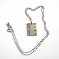 one inch ruler necklace - hair stylists friend jewelry