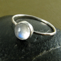 Rainbow Moonstone Stacking Ring Made to by JessicaCoxJewelry