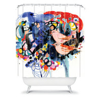 DENY Designs Home Accessories | Randi Antonsen Birds 8 Shower Curtain