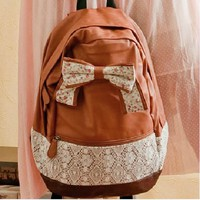 Ribbon Bowknot Lace Backpack