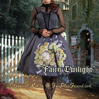 """Fairy Twilight"" Classical Lolita JSK Dress & Headdress*2colors Instant Shipping"