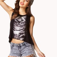 Kitten Graphic Muscle Tee | FOREVER 21 - 2073025877
