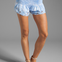 Tiare Hawaii Eyelet Shorts in Sky Smoke from REVOLVEclothing.com