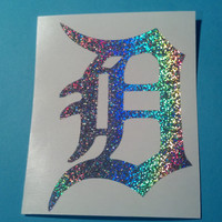 "Sparkle Detroit Michigan Tiger D    LARGE  8"" x 5.5"""