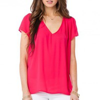 Trista Blouse in Magenta - ShopSosie.com