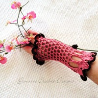 Victoria Gloves Crochet Pattern No. 23 Vintage Inspired PDF Emailed | Genevive - Crochet on ArtFire