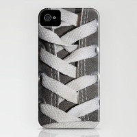 All Laced Up And Nowhere To Go iPhone Case by Rachel Landry | Society6