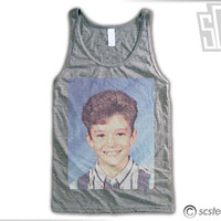 Justin Timberlake Middle School Yearbook Photo Flowy Tank Top x Singlet