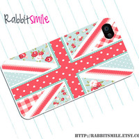 iPhone 5 Case, iPhone 4 case, iPhone 4s Cover , Hard Plastic iphone 5 Cover, cases - Vintage UK United Kingdom Flag/ British Flag