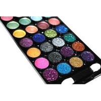 Splashing 32 Color Neon Glitter & Plain Eyeshadow Makeup Kit