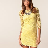 Slash Neck Lace Dress, John Zack