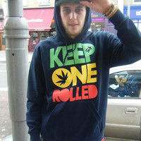 Wiz Khalifa  Keep One Rolled Hoodie  Urban Hip Hop Fashion Jumper YMCMB
