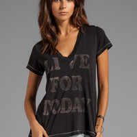 Rebel Yell Today Classic V Tee in Black from REVOLVEclothing.com