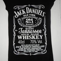 Jack Daniels tribute t shirt top black 8 10 12 14 from perfect8
