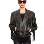 GYPSY WARRIOR - Fringe Leather Motorcycle Jacket