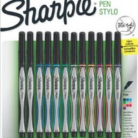 Amazon.com: Sanford Sharpie Fine Point Pen Stylo, Assorted Colors, 12-Pack: Arts, Crafts & Sewing