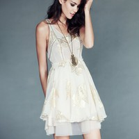 Free People Dark Beauty Lurex Dress