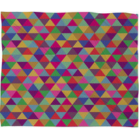 DENY Designs Home Accessories | Bianca Green In Love With Triangles Fleece Throw Blanket