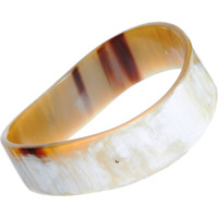 Monique Péan Buffalo Horn Wave Bangle with Black Diamonds at Barneys.com