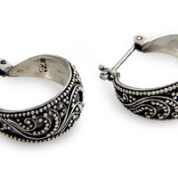 Sterling silver hoop earrings, Moonlit Serenade