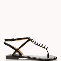 Spiked Metallic Thong Sandals | FOREVER 21 - 2048151473