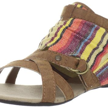 Big Buddha Women's Kind Ankle-Strap Sandal,Brown Multi,6 M US