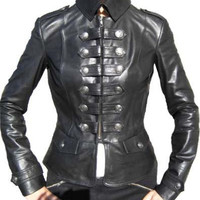 Womens Military Style Super Soft Sheep Leather Jacket by TrendsPk