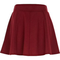 Dark red jersey skater skirt - skater skirts - skirts - women