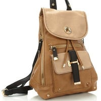 Kingston Luxe Rucksack | Brown | Accessorize