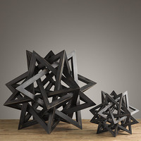 Wood Star Maquette Black