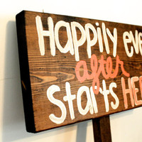 Wedding Signs, Happily ever after sign, Wooden wedding sign, Handmade custom sign, Custom wedding signs