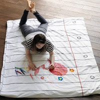 Doodle Duvet & Pillow Case - Draw on it, Wash it, Do it again