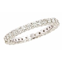 Prongs Diamond Eternity Wedding Anniversary Band Ring 14K White Gold 8 (1.10cttw, SI Clarity, G Color)
