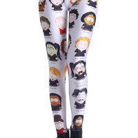 ROMWE | South Park Characters Print Leggings(Arrival on Jun.20th), The Latest Street Fashion
