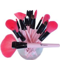 Cotton Candy Premium 24 Pieces Brush Set From Royal Care Cosmetics