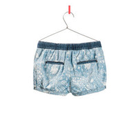 PRINTED DENIM SHORTS - Shorts - Girl - Kids | ZARA United States