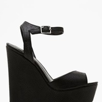 Belen Platform Wedge - Black
