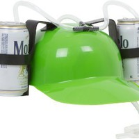 Amazon.com: EZ Drinker Beer and Soda Guzzler Helmet (Green): Toys & Games
