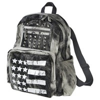 Mossimo Supply Co. White American Flag Backpack - Gray