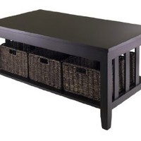 Amazon.com: Winsome Morris Coffee Table with 3-Foldable Basket: Home & Kitchen