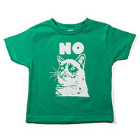 """No"" Grumpy Cat Kids' Tee"