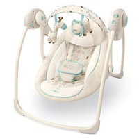 Bright Starts Comfort and Harmony Portable Swing, Biscotti Baby