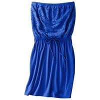 Xhilaration® Junior's Strapless Cover Up Dress -Cobalt Blue S