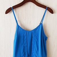 Wonder-Blue Cropped Tank