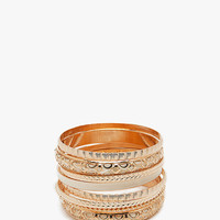 Hollow Filigree and Enamel Stack Bangle