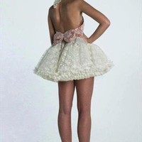 Cream Lace tutu Dress from Gypsophila Couture