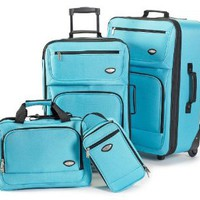 Amazon.com: Hercules Jetlite 4-pc. Luggage Set SEAFOAM BLUE: Clothing