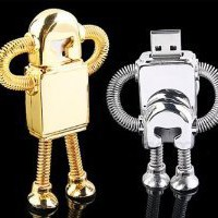 Amazon.com: Cool metal Robot 16 GB USB Flash Drive - Golden: Computers & Accessories