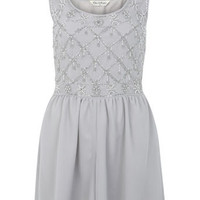 Embellished Mesh Playsuit - Going Out
