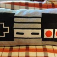 Nintendo NES Controller Pillow by WTCrafts on Etsy